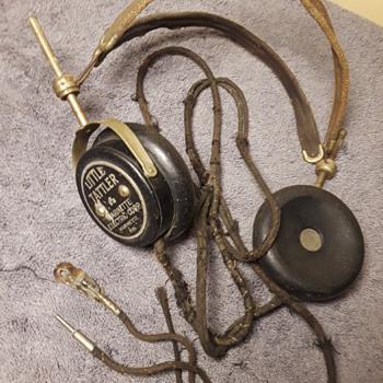 1920's(ish) LITTLE TATTLER radio headphones - Electronics