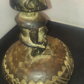 antique hand carved African sculpture - Fine Art