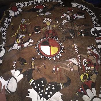 NATIVE AMERICAN BUFFALO ROBE - Native American