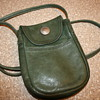 Vintage Leather Handbag with Buffalo Nickel Snap