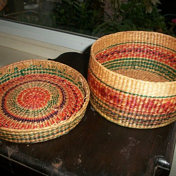 colorful lidded basket... can someone id this? - Asian