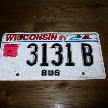 Wisconsin 31 31 B Plate - Classic Cars