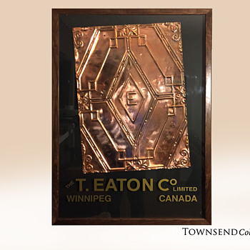 The T. EATON Co Limited, Winnipeg Store Ceiling Tile circa. 1904 - Office