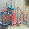 1970 blue and red bike.