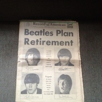 Boston  Record American- 1966 - Music Memorabilia