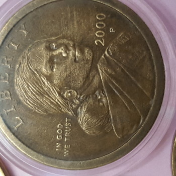 Experimental Wash Sacagawea 2000 p - US Coins