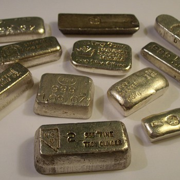 "Misc. Small 1-Ounce 999 Silver Bars ""Old Pour"""