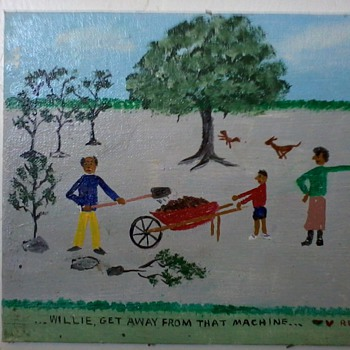 "New Orleans ""Primitive""Paintings(2)by William Reinhart, ""Red Dog Series""of 12"