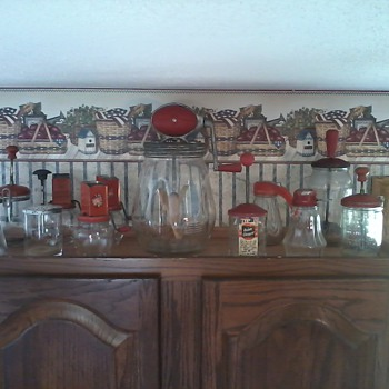 Some of my red kitchen collectibles - Kitchen
