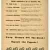 "Original 1968 Feminists Flier Protesting Miss America Pageant Atlantic City ~ ""Slavery Exists"""