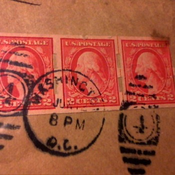1920 2cent deep rose imperforated schermack  stamp