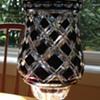 bohemian black crystal vase
