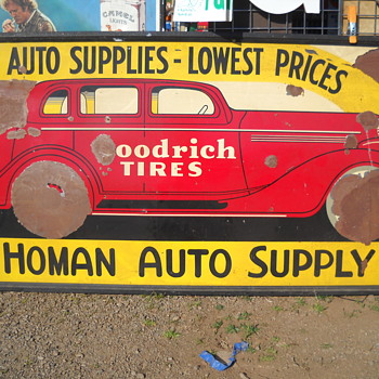 Homan Auto Supply Sign