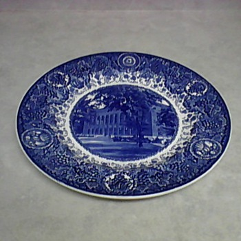 WEDGWOOD UNIVERSITY MICHIGAN LIBRARY PLATE - China and Dinnerware