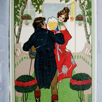 ART NOUVEAU POSTCARD 1908 STYLISTIC,HARDER TO FIND TYPE - Postcards