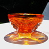 Bright orange bowl