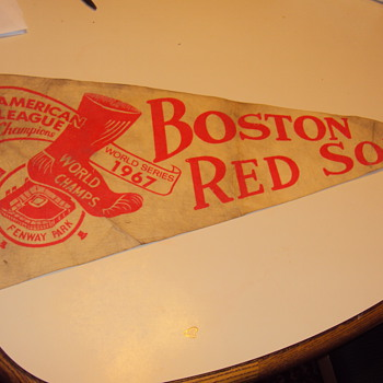 1967 world series red sox fenway park pennant - Baseball