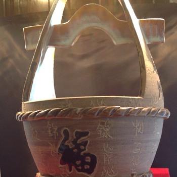 Asian Yoke planter - Pottery