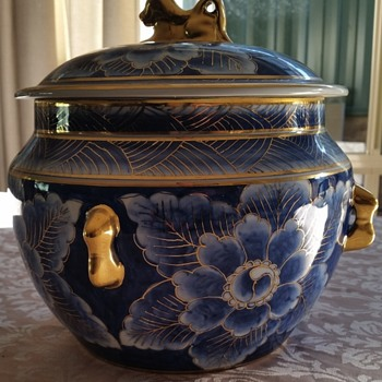 Vintage Lidded Dish with Lid - Pottery