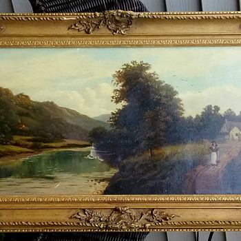 Antique Oil Painting: L. Haines, Edwardian? - Fine Art