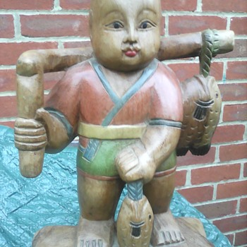 My Chinese carved Hwan boy - Asian