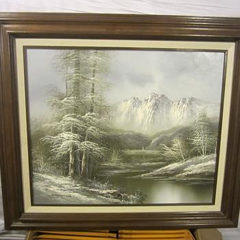 """""""HAYWOOD"""" Snowy Mountain Painting - Fine Art"""