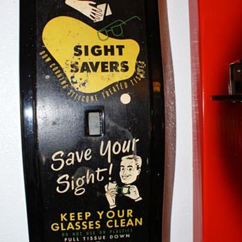 Eye glass tissue dispenser - Advertising