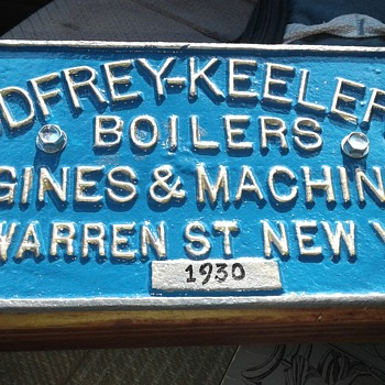 Godfrey Keeler Boiler Cast Iron Plaque - Signs