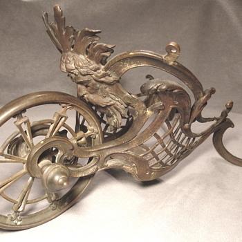 Bronze hanging container, basket, planter, or...? - Art Nouveau