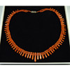 Art Deco Coral Necklace with 18k Diamond Clasp