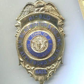 Blackinton HI-GLO Sample Badge