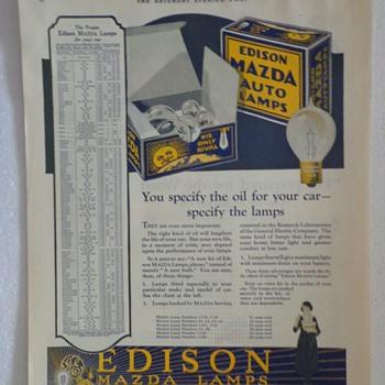 1922 Edison Mazda Lamps Ad  - Advertising