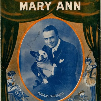 "1915, SHEET MUSIC,"" COME OUT OF THE KITCHEN MARY ANN"", DOUGLAS FAIRBANKS - Music Memorabilia"