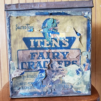 1800's Iten's Fairy Crackers Tin. - Advertising