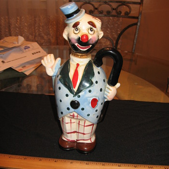 very old clown liquor bottle - Bottles