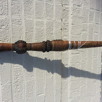 ANTIQUE ETHIOPIAN SWORD WITH SCABBARD - Military and Wartime