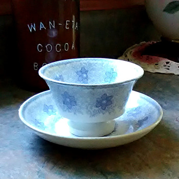 Mid-1800s Cup & Saucer - China and Dinnerware