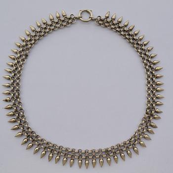 Victorian 800 Silver Necklace - Victorian Era
