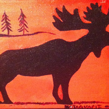 Painting done by a native artist.