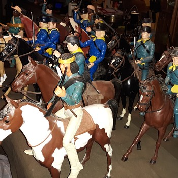 "Marx 12"" Cavalry Figures Johnny West Now With Horses! - Toys"
