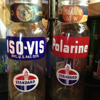 Standard Oil Bottles...Dated 1946 - Petroliana