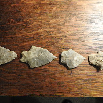 Indian arrowheads - Native American