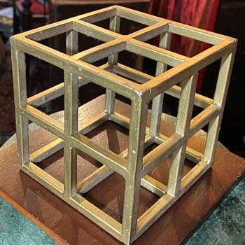 Welded Metal Cube - Fine Art