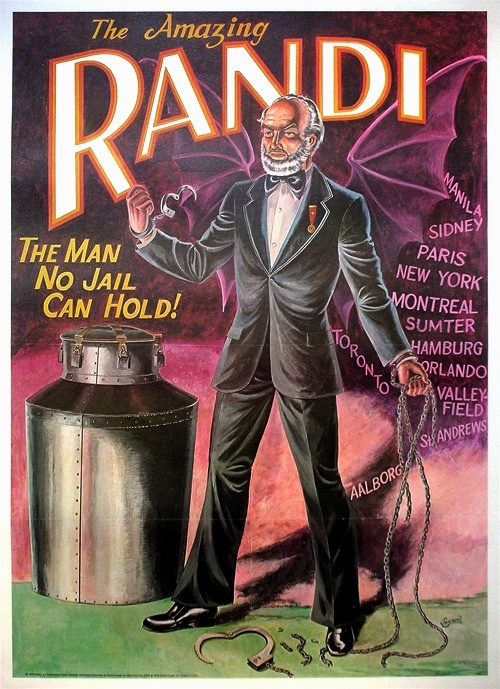 """The Amazing Randi"""" Original Offset Lithograph Poster   Collectors Weekly"""