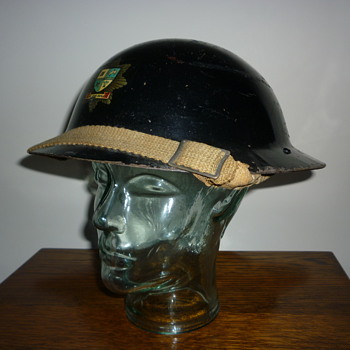 British WWII Bury Fire Brigade steel helmet.
