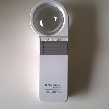 Tools Of My Trade - Eschenbach Germany Hand Held Magnifier, Flea Market Find, $1.00  - Office