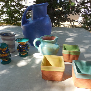 It Wasn't all Glass, Pottery Finds At The Flea Were Good too! McAfee, Pinto, Pisgah Forest, Others Too! :^) - Pottery