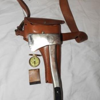 1935 Tomahawk Boy Scout Hatchet Compass Matches - Sporting Goods