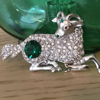RARE PANETTA ZODIAC BROOCH...restored with a little help from my friends! THANKS PASCALE! - Costume Jewelry