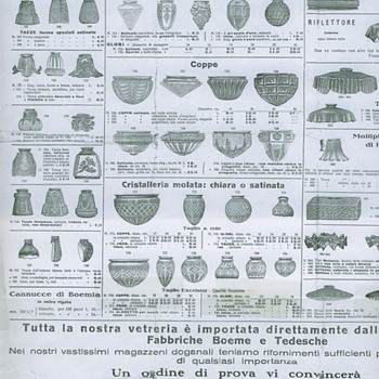 Catalog of Glass Shades from ELETTRA 1928 - MILANO - Lamps